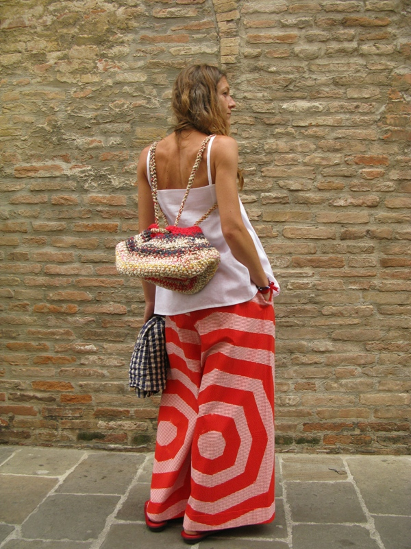 Daniela Gregis, Spring/Summer 2014, Top, Bag, Jacket, Trousers, Trippen