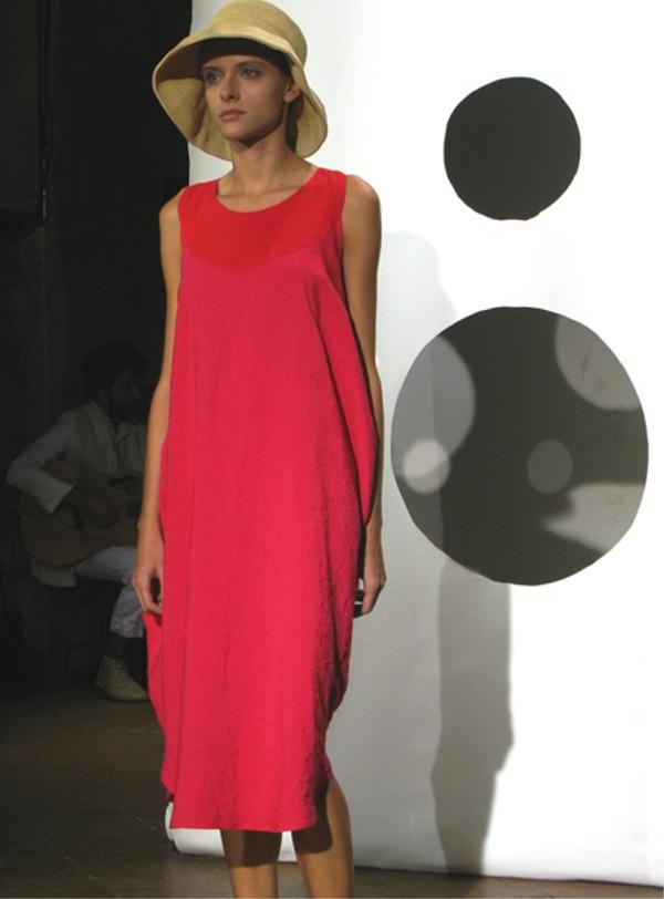 Daniela Gregis, Spring/Summer 2014, Red, Dress, Silk