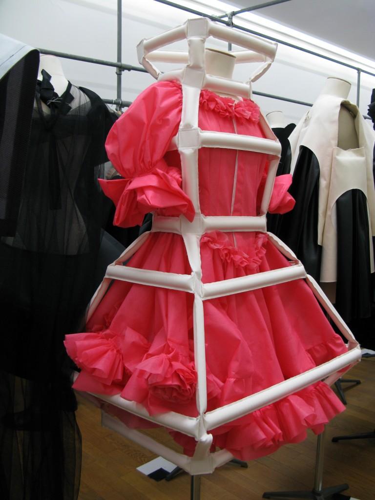 Comme des Garçons, SS 2014, Cage Dress