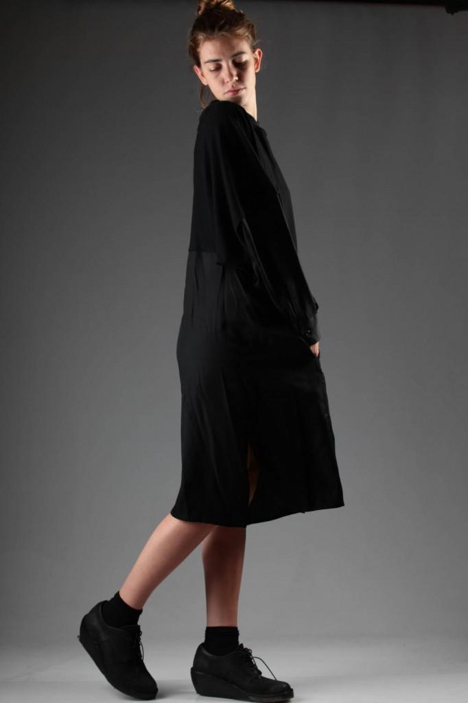 Y's, Yohji, Yamamoto, Black, Dress, AW 2014-15