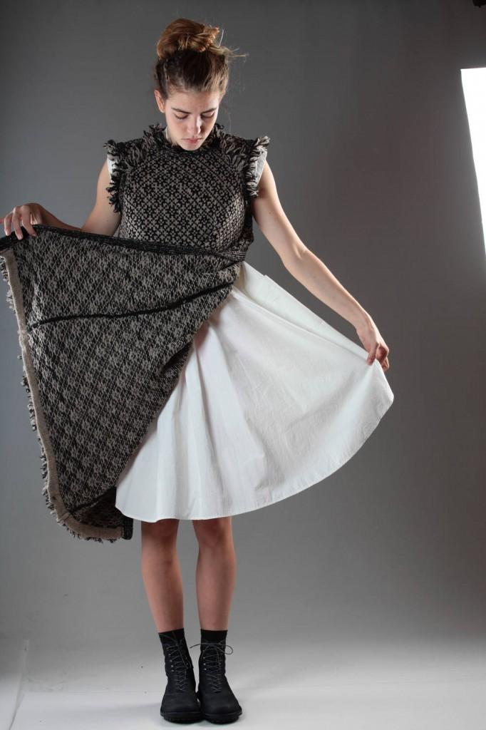 Y's, Yohji, Yamamoto, Canvas, Dress, Wool, Waistcoat, Outfit, AW 2014-15
