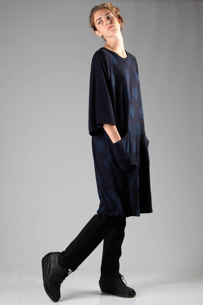 Y's, Yohji, Yamamoto, Polka, Dot, Dress, AW 2014-15