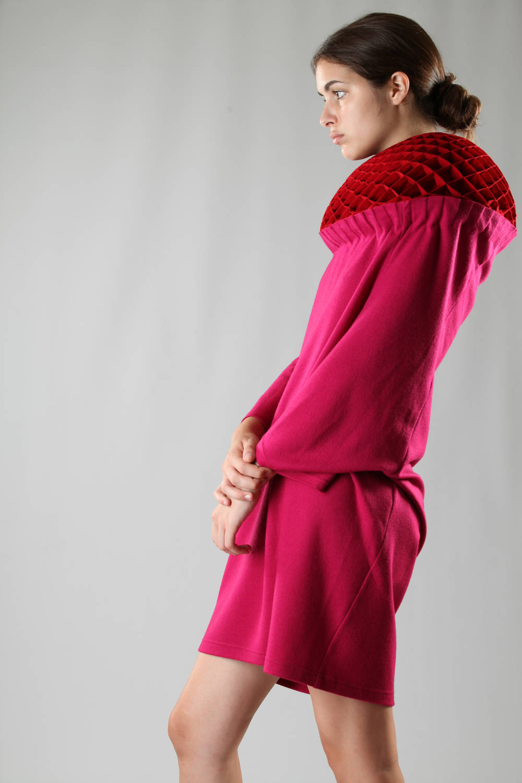 junya watanabe fw 2016 origami dress violet
