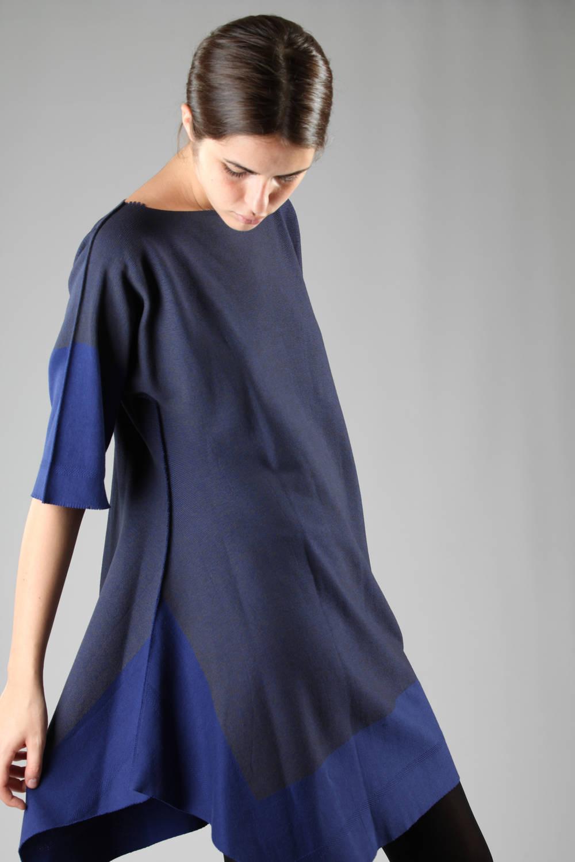 issey miyake fw 2016 blue apoc dress