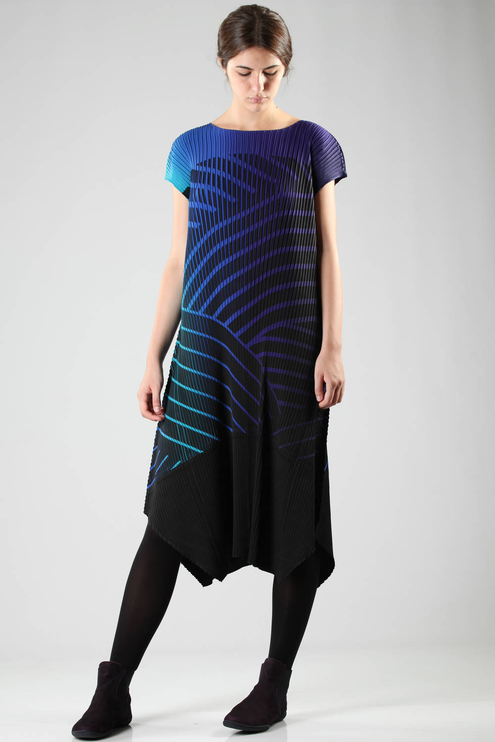 issey miyake fw 2016 multicolor blue dress 1