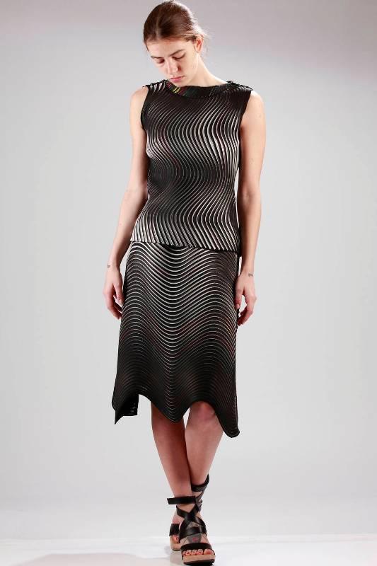 Issey Miyake Reversible Top Skirt SS16