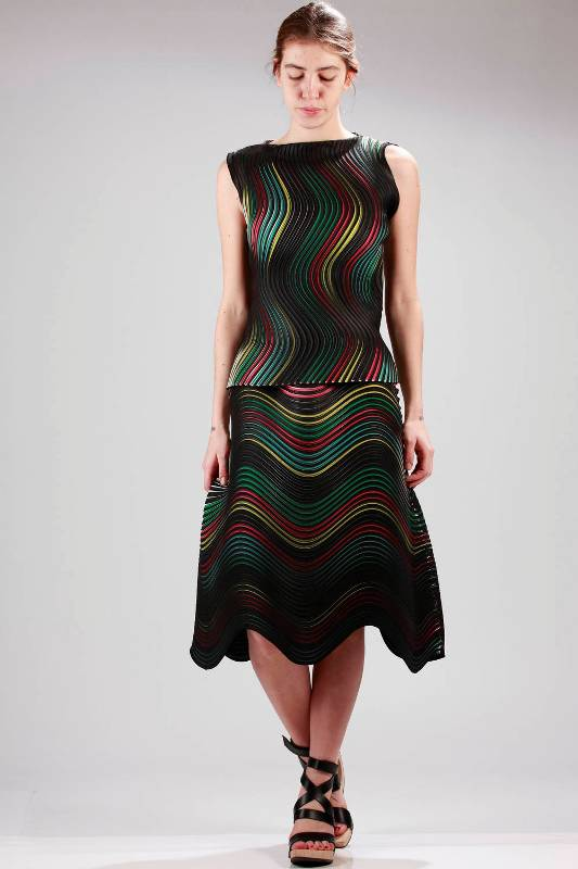 Issey Miyake Top Skirt SS16