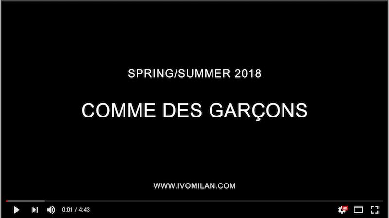 video-youtube-Comme des Garçons-ss-2018