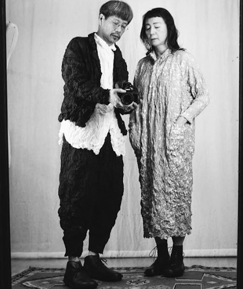Shu Moriyama and wife