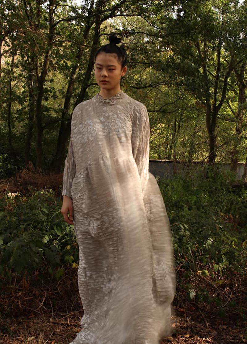 Shu Moriyama pleats dress Spring Summer 2021